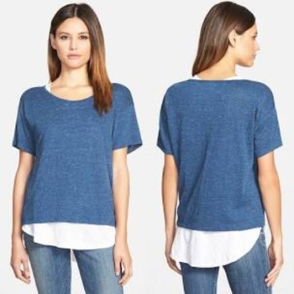 Eileen Fisher Organic Linen Knit Tunic Top